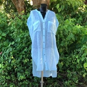 Holding Horses Baby Blue Linen Tunic Anthropologie